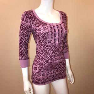FANG Waffle Knit Tee Purple Print NEW